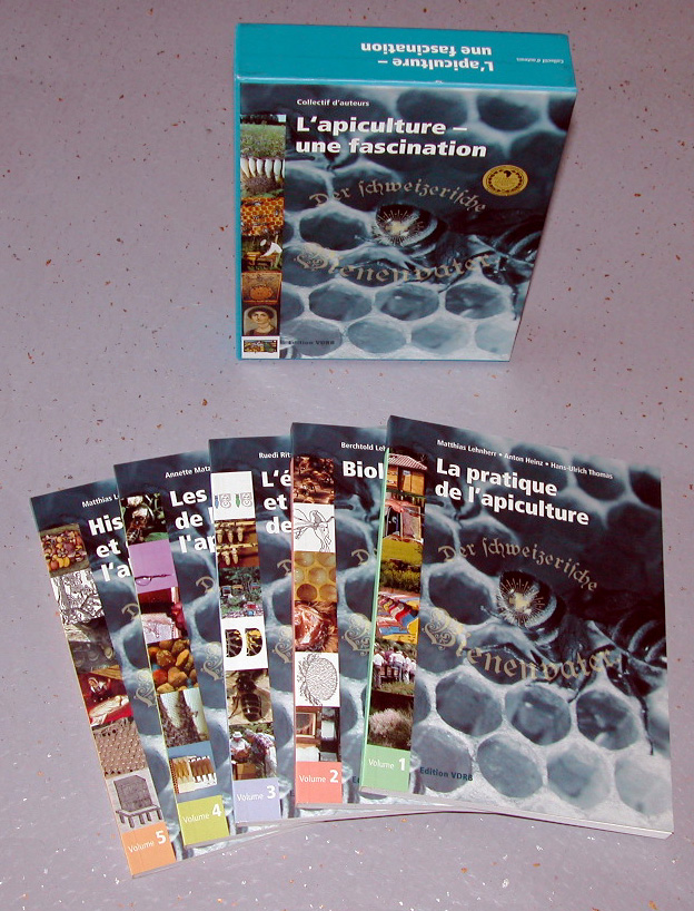 00RE24 L'apiculture, une fascination, Collectif d'auteurs, 5 volumes (livre)