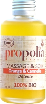20MV98 Huile de Massage détente Orange, Cannelle 100ml