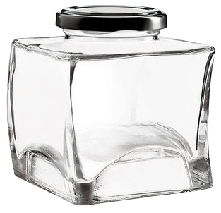 VE1740 Pot en verre 212ml Ø TO53 Carré Empilable
