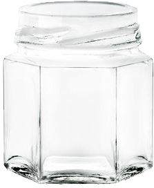 VE5222 pot en verre 45ml hexagonal Ø TO43